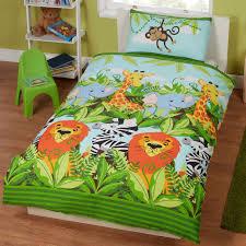 jungle friends double duvet cover set kids bedding lions new ebay