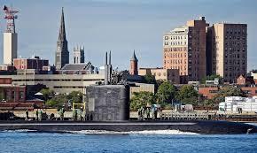 The US Navy Los Angeles Class Attack Submarine USS Toledo SSN 769 Passes