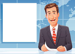 News Anchor Vector Art Illustration