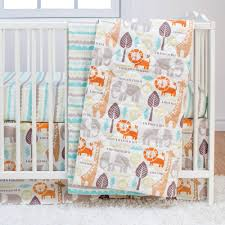 Snoopy Crib Bedding Set by Poppi Living Safari 3 Piece Crib Bedding Set Walmart Com