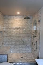 marble subway tile bathroom peenmedia