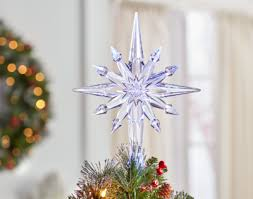 Christmas Tree Clear Star Topper