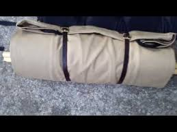 Cowboy Bed Roll by Kephart Bedroll By Duluth Pack Khaki Color Setup Youtube