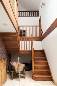 Open Timber Stairs | Gallery Landing | Double Height Space ... What Is A Banister On Stairs Carkajanscom Stair Rail Height House Exterior And Interior The Man Functions Staircase Railing Code Best Ideas Design Banister And Handrail Makeover Using Gel Stain Oak 1000 Images About Spiral Staircases On Pinterest 43 Stairs And Ramps Amazing How To Replace Latest Half Height Wall Timber Bullnose Handrail Stainless Veranda Premier 6 Ft X 36 In White Vinyl With Square Building Regulations Explained Handrails For Photo Wooden Of Neauiccom