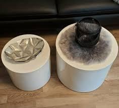 wohnzimmer tische weiß höcker hochglanz weiß design