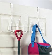 White 12 Hook Over Door Coat Rack