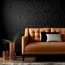 vlies tapete barock muster ornament metallic effekt schwarz