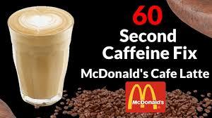 Dunkin Donuts Pumpkin Spice Latte Caffeine by Mcdonald U0027s Cafe Latte 60 Second Review Youtube