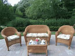 Decor of Resin Wicker Patio Furniture Residence Decorating Concept