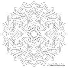 Surprising Celtic Mandala Coloring Pages With And Knot Free