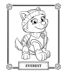 Magnificent Everest Paw Patrol Coloring Page 5aeed5c1e91f5 Pages Skye