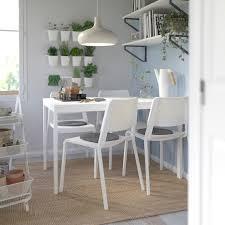 vangsta teodores tisch und 4 stühle weiß weiß 120 180 cm