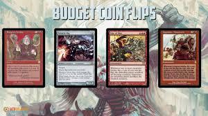 budget commander deck tech coin flips youtube