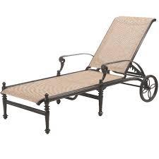 Gensun Patio Furniture Cushions by Gensun Grand Terrace Sling Chaise Lounge