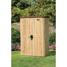 Suncast Shed Accessories Canada by Suncast Extra Large Cedar And Plastic 120 Gallon Deck Box