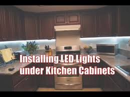 installing led lights kitchen cabinets