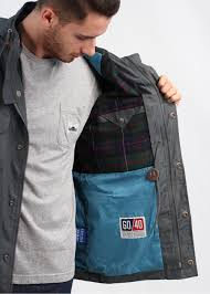 penfield kasson hooded parka charcoal