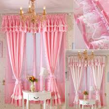 Pink Ruffled Window Curtains by Priscilla Curtains Window Treatments For Home Decor Best Ideas