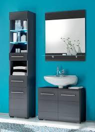 badezimmer chrome 3 tlg badmöbel komplett set dekor grau metallic