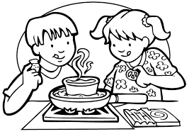 Coloring Page Kitchen Room Buildings And Architecture 17