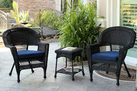 3-Piece Black Resin Wicker Patio Chairs And End Table Furniture Set - Blue  Cushions - 31556343 3pc Black Rocker Wicker Chair Set With Steel Blue Cushion Buy Stackable 2 Seater Rattan Outdoor Patio Blackgrey Bargainpluscomau Best Choice Products 4pc Garden Fniture Sofa 4piece Chairs Table Garden Fniture Set Lissabon 61 With Protective Cover Blackbrown Temani Amazonia Atlantic 2piece Bradley Synthetic Armchair Light Grey Cushions Msoon In Trendy For Ding Fabric Tasures Folding Chairrattan Chairhigh Back Product Intertional Caravan Barcelona Square Of Six
