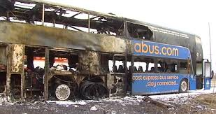 megabus catches fire in lake forest no one hurt chicago sun times