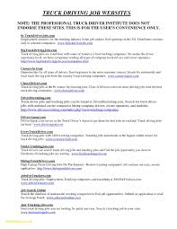 100 Local Truck Driver Jobs Resume Template Free Resume For Beautiful