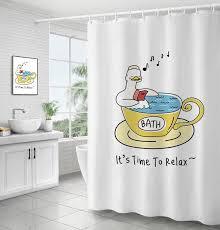 großhandel ente drucken duschvorhänge nordic minimalistische bad tür vorhang verdicken polyester wasserdichte badezimmer vorhänge