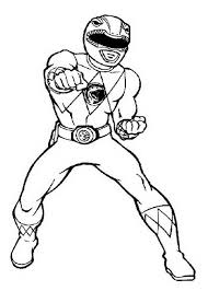 Power Rangers Deathly Punch Coloring Page