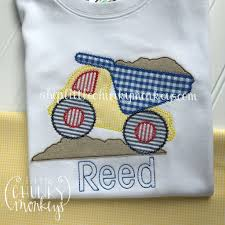 Boy Outfit - Boy Shirt - Dump Truck Applique Shirt – Little Chunky ... Personalized Birthday Dump Truck Applique Shirt Or Bodysuit Girl Boy Valentines Day With Hearts Boyss Tow Machine Embroidery Design Blue Green Boy Christmas Mardi Gras Crimson Football Dumptruck Little 2 Dump Truck Applique Etsy Shamrock Saint Patricks Embroitique Gifts Filled For