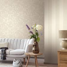 wohnzimmer tapeten mit eleganten ornamenten amira