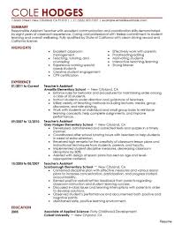 Teacher Assistant Resume Samples Luxury Skills For Early Childhood