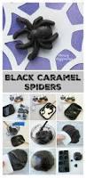 Rice Krispie Halloween Treats Spiders by Creepy Halloween Treats Black Caramel Spiders