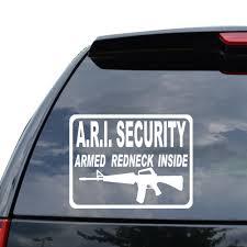 100 Redneck Truck Stickers Amazoncom Armed Inside Assault Rifle 2nd Decal Sticker Car