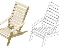 Pallet Adirondack Chair Plans by One Pallet Chair With Pictures