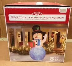8ft Christmas Tree Ebay by Snowman Top Hat Present U0026 Swirling Light Effect Airblown
