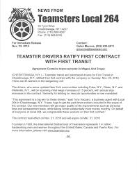 100 Trucking Contracts Teamsters Local 264