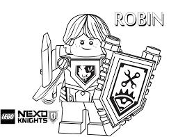 LEGO Nexo Knights Coloring Page Robin Printable Color Sheet