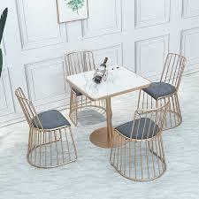 freizeit cafe restaurant marmor tisch stuhl nordic goldene hause schmiedeeisen tisch buffet restaurant tisch esszimmer möbel