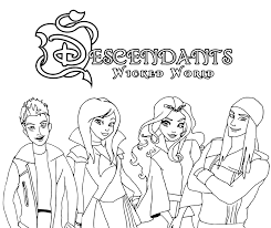 High Quality Free Printable Cartoon Descendants Coloring Pages For Kids