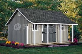 12x16 Shed Plans Material List by 14 U0027 X 16 U0027 Cape Code Storage Shed With Porch Plans P81416 Free