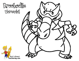 Pokemon Coloring Pages Darumaka 7 Impressive Design Ideas Black And White Of Krookodile