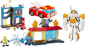 TRANSFORMERS RESCUE BOTS FIRE STATION, PAW PATROL FIRE STATION ...