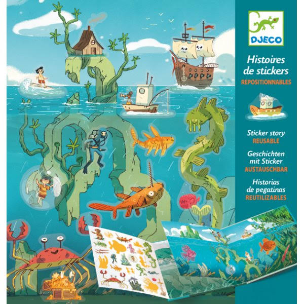 Djeco Sticker Story - Adventures at Sea DJ08953