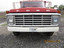 Front Grill Of Red Ford F600 Grain Truck.Growing Up I Was So ...