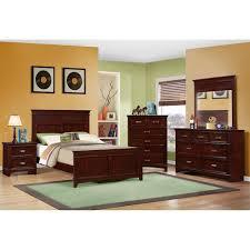 skylar bedroom bed dresser mirror full cherry 25076
