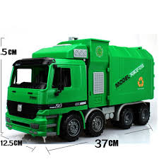 Big Size Jumbo Kid's Large Man Side Loading Garbage Truck W/ 3 ...