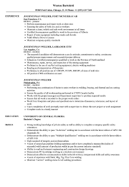 Download Journeyman Welder Resume Sample As Image File