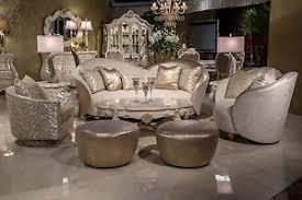 Camelia Contemporary Luxury Brightgold Sofa by Michael Amini ST