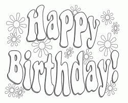 Free Printable Happy Birthday Coloring Pages 170004 Card